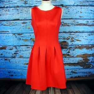 Ann Taylor red sleeveless fit and flare  dress 8